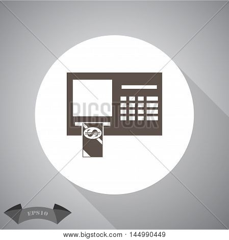 ATM Vector icon for web and mobile.