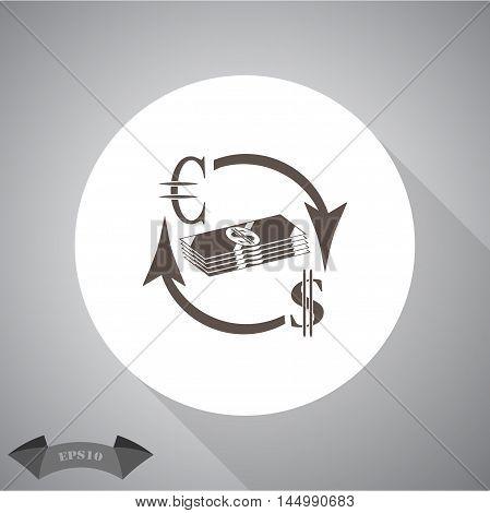 Money convert icon. Euro Dollar Vector icon for web and mobile.