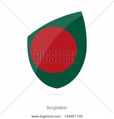 Flag of Bangladesh in the style of Rugby icon. Vector Illustration.
