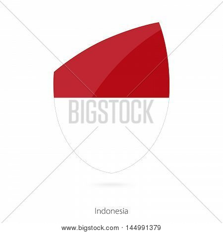 Flag of Indonesia in the style of Rugby icon. Vector Illustration.