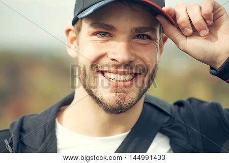 Young Guy In Baseball Cap