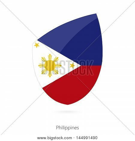 Flag of Philippines in the style of Rugby icon. Vector Illustration.