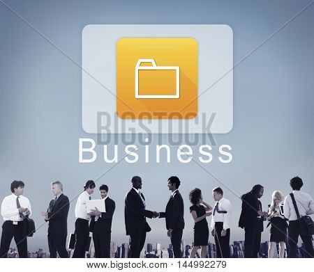 Business Digital Folder Application Concept