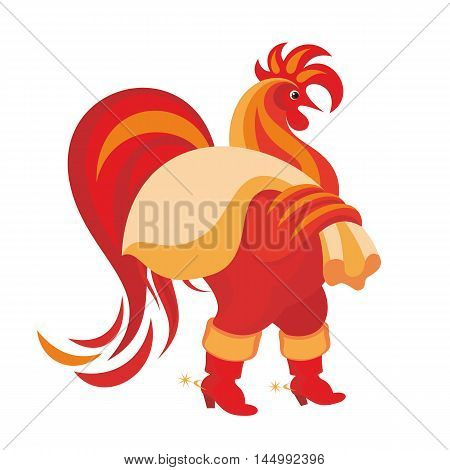 Fiery rooster - a symbol of new 2017 on the Chinese horoscope