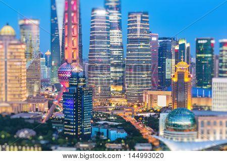 shanghai landscape,china,bokeh image.