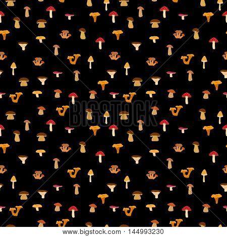Seamless texture with autumn pattern. Vector illustration.