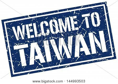 welcome to Taiwan. stamp. grunge square sign