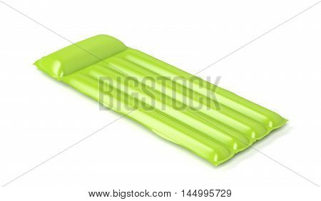 Floating pool mattress on white background, 3D illustration
