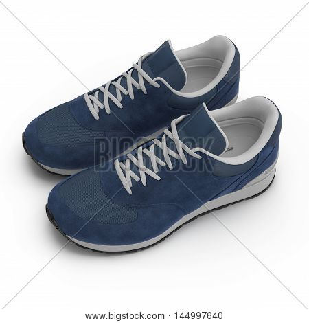 Sneakers isolated on White Background 3D Illustration
