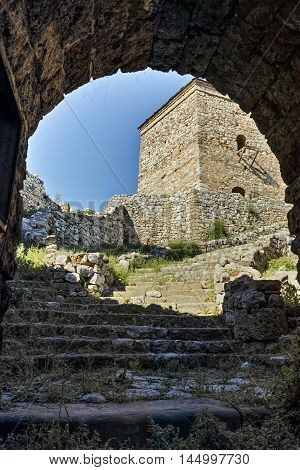 Entrance of Tower and Outside view of Pirot Fortress, Republic of Serbia