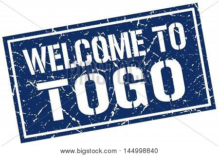 welcome to Togo. stamp. grunge square sign