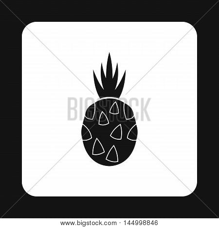Dragon fruit icon in simple style isolated on white background. Fruit symbol