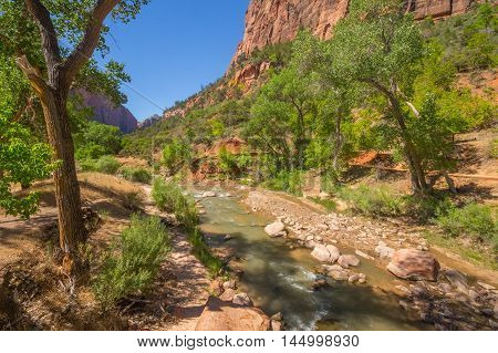 River Flowing - Zion National Park - Springdale, Utah