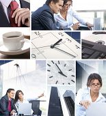 pic of real-estate-team  - Business collage illustrating finance - JPG