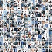 Business collage made of 225 business pictures