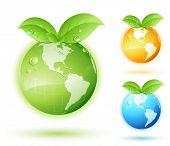 stock photo of cartographer  - Green earth concept - JPG