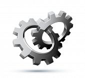 picture of gear wheels  - gears - JPG