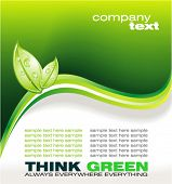 VECTOR Business Colorful Ecology Green Background