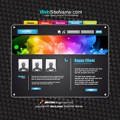 Futuristische High Tech Website Template met Attrative kleuren