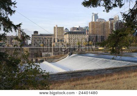 Upper Saint Anthony Falls In Minneapolis