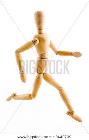 Model Posing Run Position