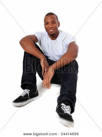 Unstressed black man