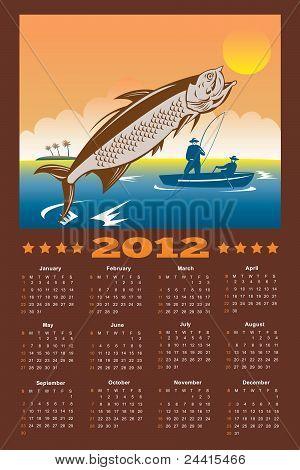 Fishing Poster Calendar 2012 Tarpon Fish