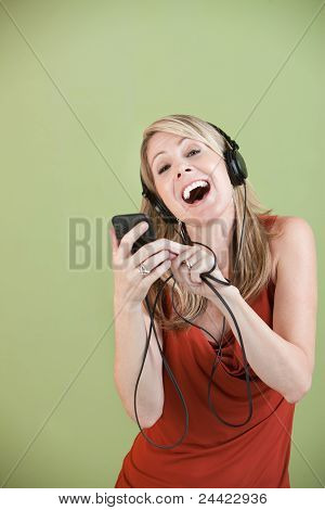 Lady Listens To Music