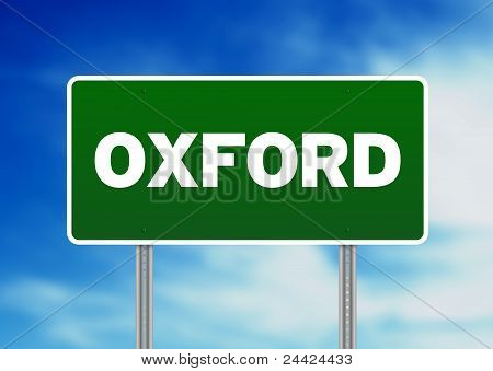 Green Road Sign -  Oxford, England