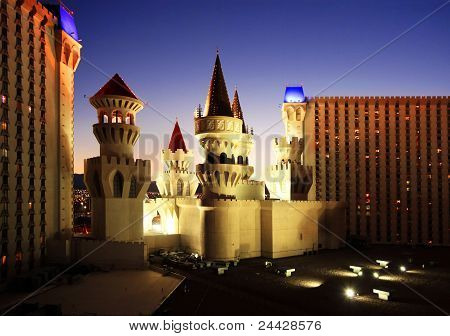 Castle Casino In Las Vegas At Night