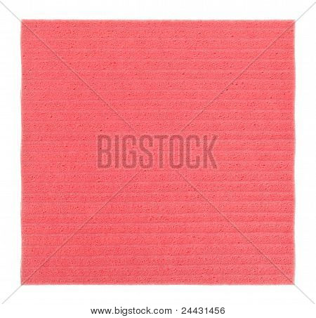 Pink Cellulose Kitchen  (tissue), Isolated On White