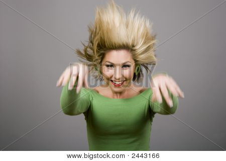 Blonde Jumping