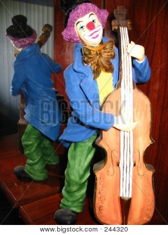 Clown On Standing Bass