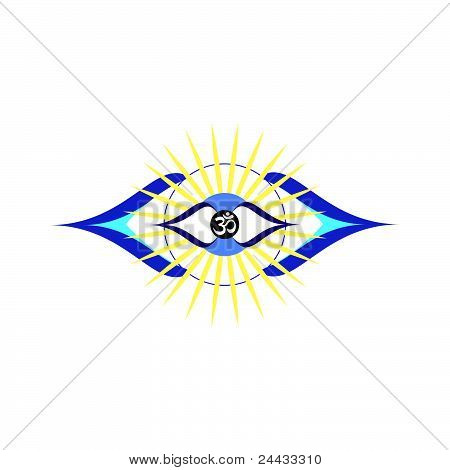 third eye chakra vector ajna
