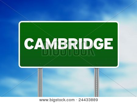Green Road Sign -  Cambridge, England