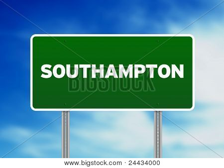 Green Road Sign -  Southampton, England