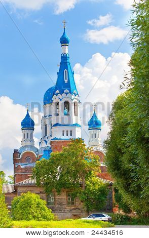 Pokrova Bozhiej Materi's orthodox church in Marienburg Gatchina Russia