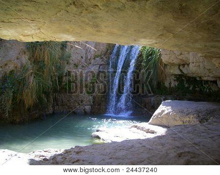 Cave at En Gedi Israel
