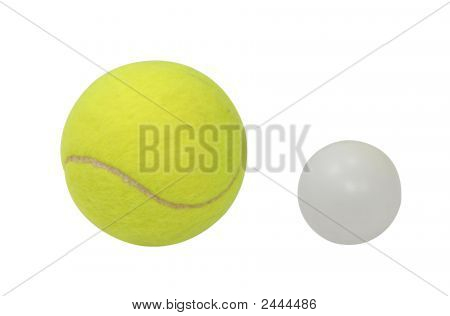 Tennis And Ping-Pong Isolated With Clipping Path