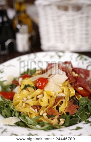 Beautiful Dish Of Fresh Taliagtelle