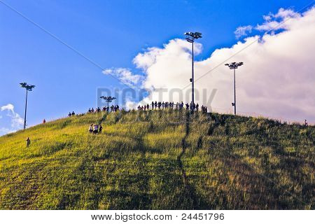 People On Top Of A Hill
