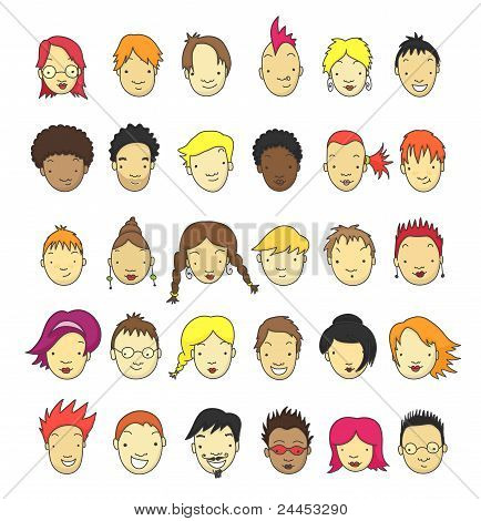 Cartoon faces collection