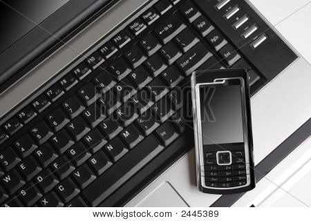 Mobile Phone And Laptop, Gprs Concept