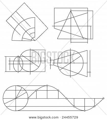Scheme Of Geometrical Objects Vector