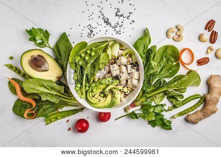 Healthy Food Flat Lay Buddha