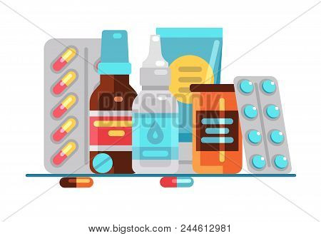 Medical Pills And Bottles Healthcare