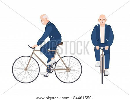 Old Man Dressed In Sport