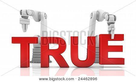 Industrial Robotic Arms Building True Word