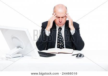 sad businessman have a headache