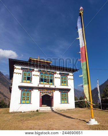 Buddhist Monastery Or Gompa In